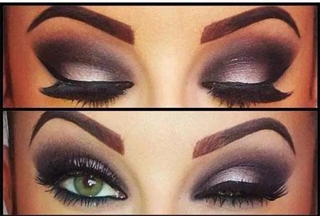 眼妆对比图图片